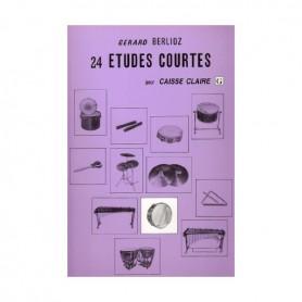 24 ETUDES COURTES pour CAISSE CLAIRE de Gérard BERLIOZ