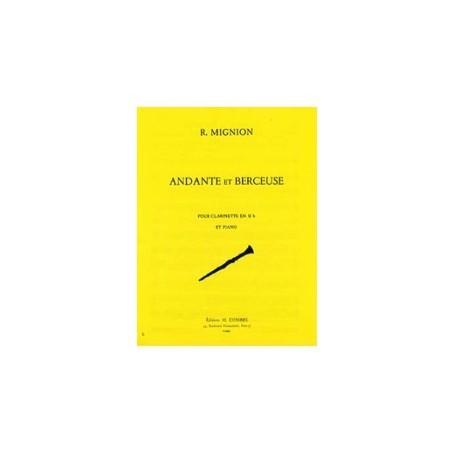 ANDANTE ET BERCEUSE pour Clarinette en SIb et Piano de R.MIGNON