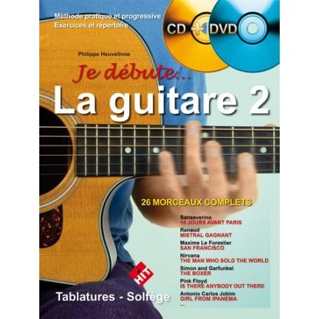 Je débute la guitare 2 + CD ET DVD
