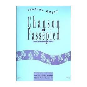 Chanson et Passepied pour saxophone alto et piano de Jeanine RUEFF
