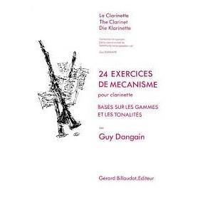 24 EXERCICES DE MECANISME pour clarinette de Guy DANGAIN
