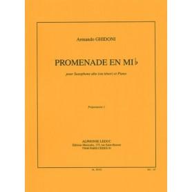 PROMENADE EN MI b de Armando GHIDONI pour saxophone et piano