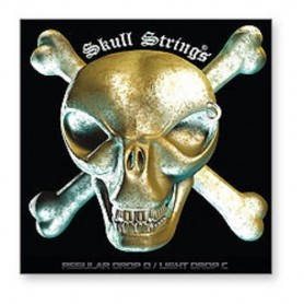 Jeu de cordes SKULL STRINGS STANDARD CUSTOM LIGHT 9-46 par lot de 3
