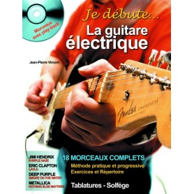 Je débute la guitare électrique avec CD