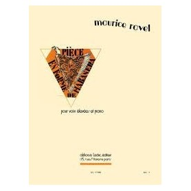 PIECE EN FORME DE HABANERA de Maurice RAVEL pour Clarinette et Piano