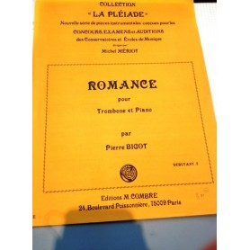 ROMANCE par Pierre BIGOT pour trombone et piano
