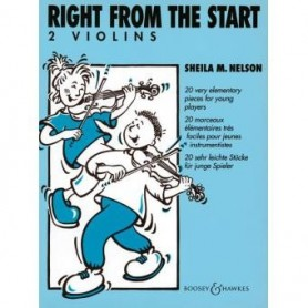 RIGHT FROM THE START 2 violins de Sheila M.NELSON