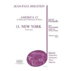 AMERICA 12 11.NEW YORK Jean Paul HOLSTEIN Grosse caisse